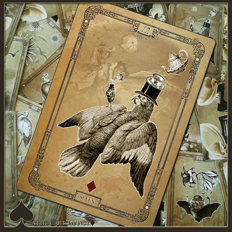 Attic Cartomancy - Card of the Day - The Tea Bats Lenormand - Birds