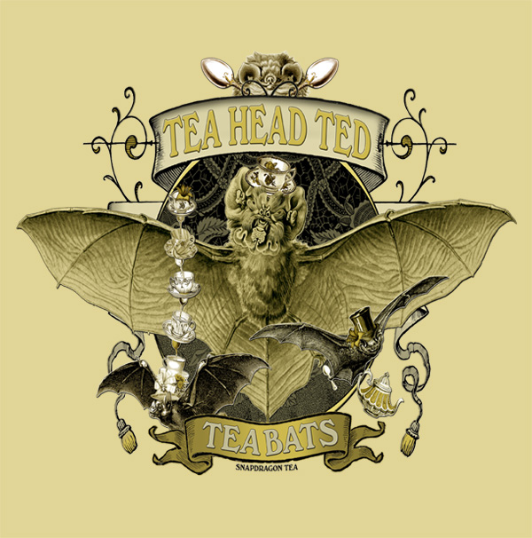 Tea Bats Tea Head Ted