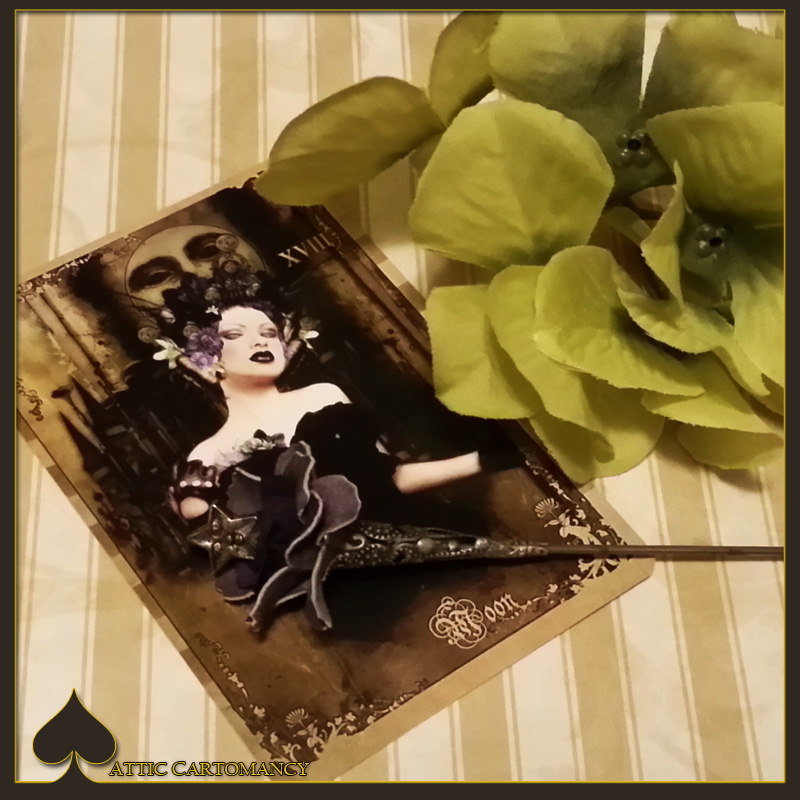 Attic Cartomancy - Card of the Day - The Black Ibis Tarot Moon Card