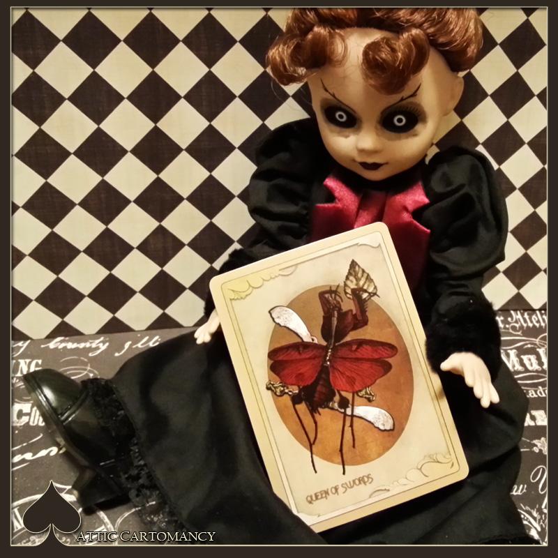 Attic Cartomancy - Card of the Day - The Black Ibis Tarot Queen of Swords