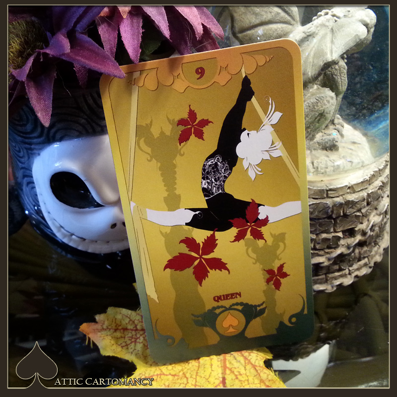 Attic Cartomancy - Card of the Day - The Butterfly Circus Lenormand Flowers
