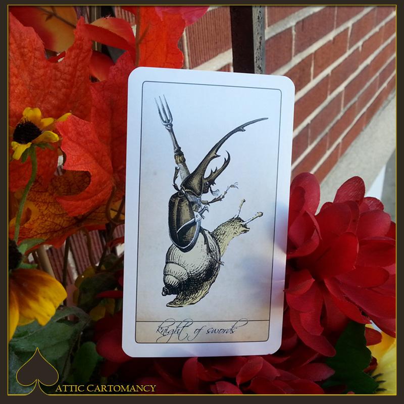 Attic Cartomancy - Card of the Day - The Isidore Tarot Knight of Swords
