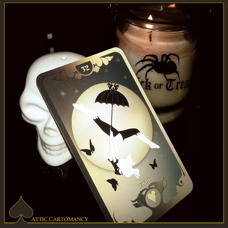 Attic Cartomancy - Card of the Day - The Butterfly Lenormand - Moon
