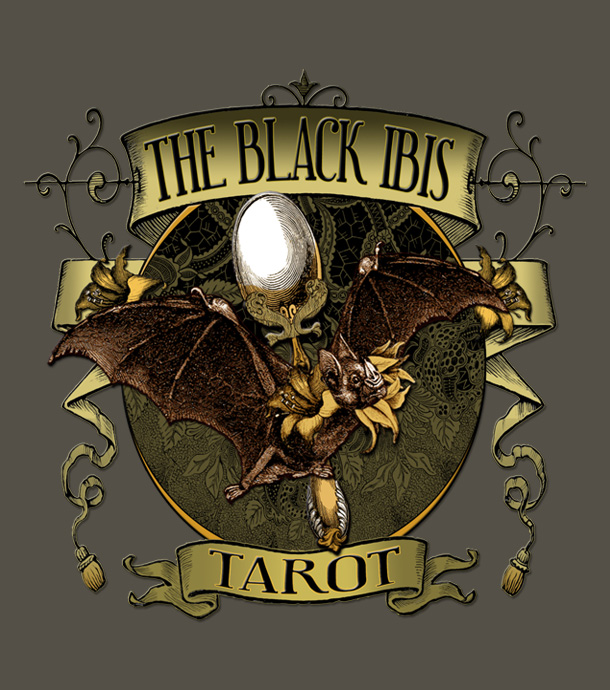 Attic Cartomancy - RedBubble Tee Shirts - Black Ibis Bat Queen