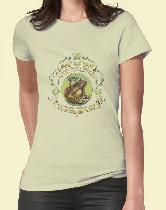 Attic Cartomancy - RedBubble Tee Shirts - Black Ibis Frogs Toil and Trouble