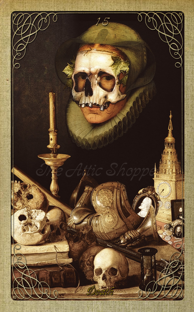Attic Cartomancy - The Attic Halloween Tarot - Death