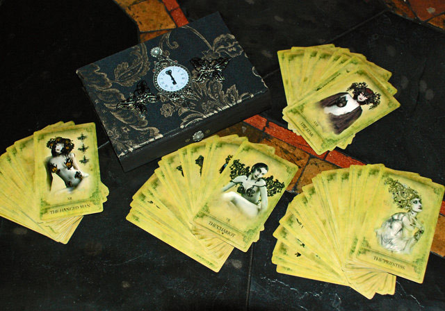 Attic Cartomancy - Limited Edition Packaging for the Sepia Stains Tarot