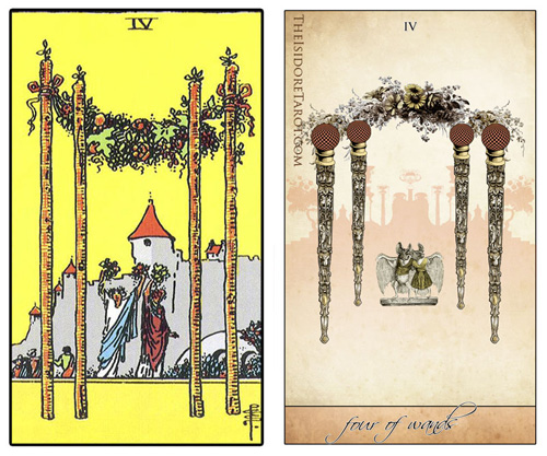 Attic Cartomancy - The Isidore Tarot compared to the Rider Waite Smith Deck