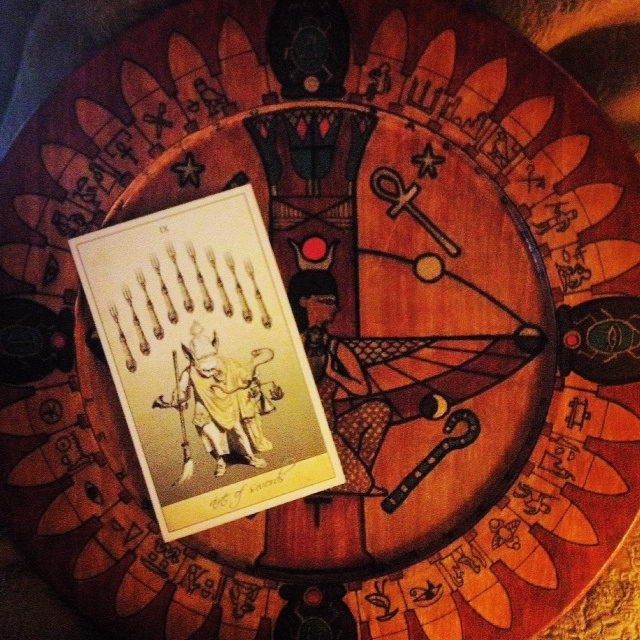 Attic Cartomancy - Guest Card of the Day - The Wormwood Queen - The Isidore Tarot Nine of Swords - The Isis Oracle