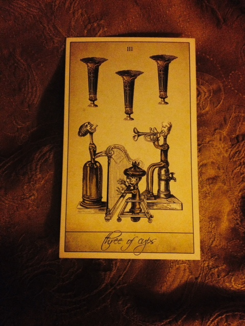 Attic Cartomancy - Guest Card of the Day - The Wormwood Queen - The Isidore Tarot Three of Cups