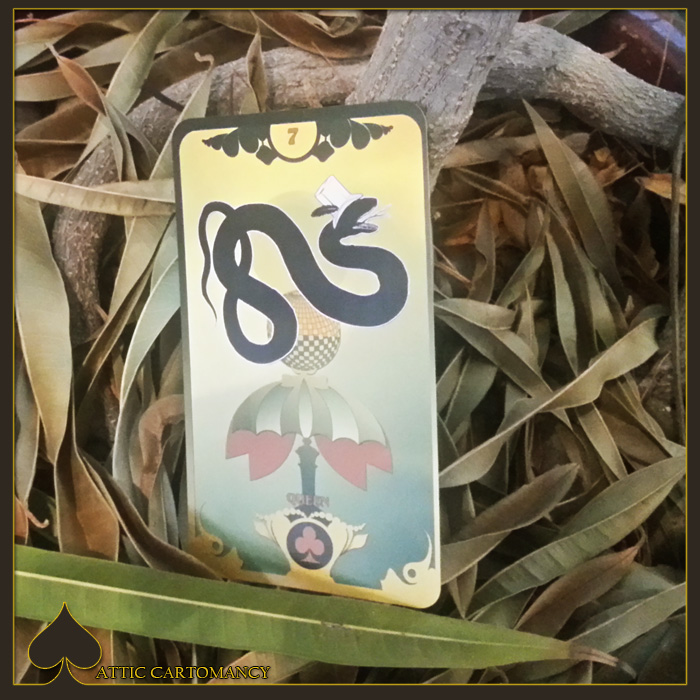 Attic Cartomancy - Card of the Day - The Butterfly Circus Lenormand Snake