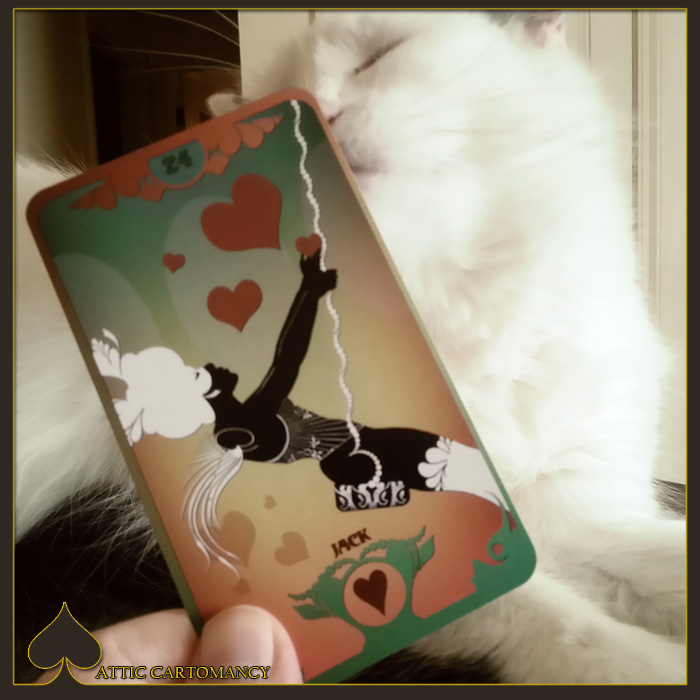 Attic Cartomancy - Card of the Day - The Butterfly Circus Lenormand Heart