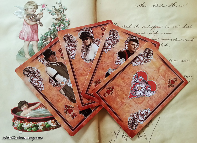 Attic Cartomancy - Motor City Steam Con Playing Cards - The Hearts
