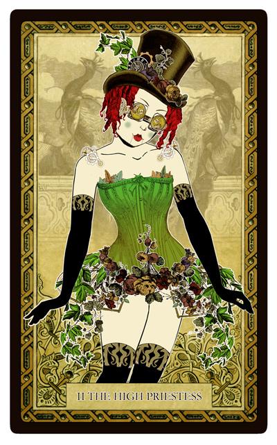 Attic Cartomancy - Bethalynne Bajema - Steampunk Symposum - Automaton Bly Art - Steampunk Poison Ivy