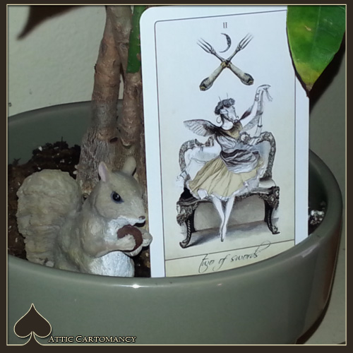 Attic Cartomancy - Card of the Day - The Isidore Tarot - Two of Swords