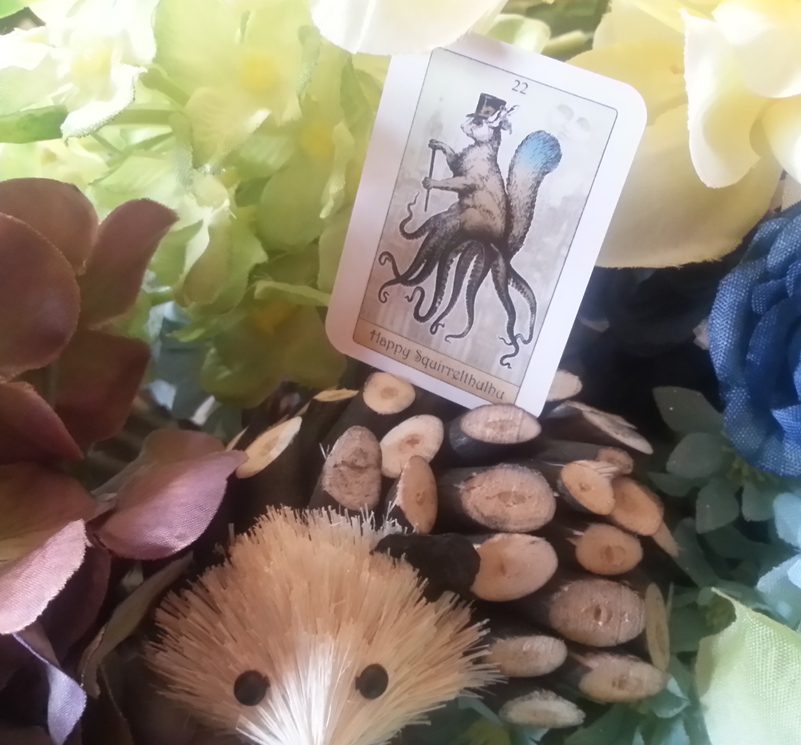 Attic Cartomancy - The Isidore Tarot Doll Deck - Happy Squirrel