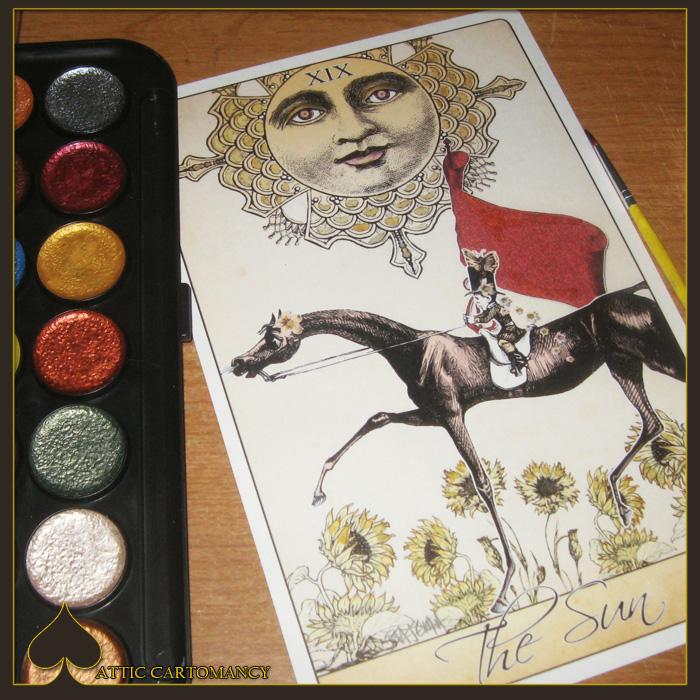 Attic Cartomancy Card of the Day The Isidore Tarot's Sun