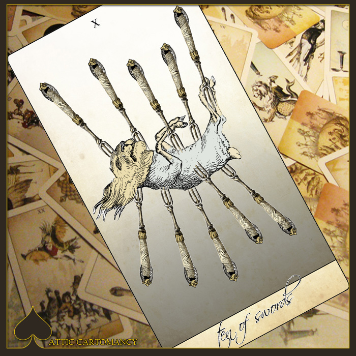 Attic Cartomancy Card of the Day The Isidore Tarots Ten of Swords