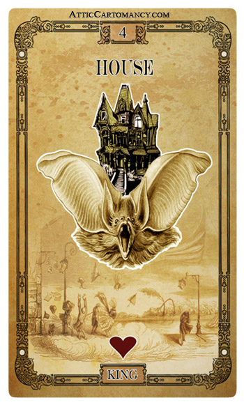 Attic Cartomancy - The Tea Bats Lenormand Deck - Second Edition
