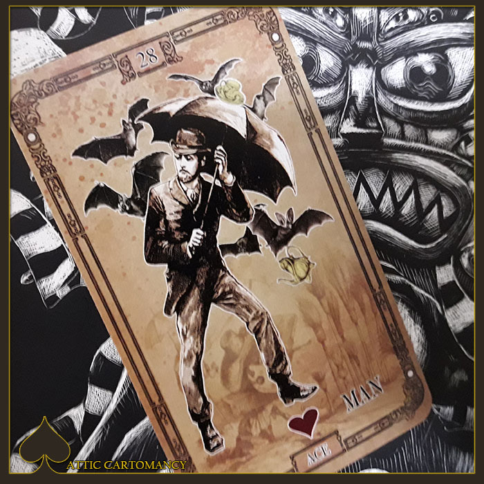 Attic Cartomancy - Tea Bats Lenormand - Man
