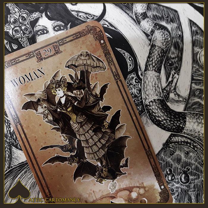 Attic Cartomancy - Tea Bats Lenormand - Woman
