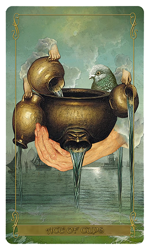 Madam Lydia Wilhelmina's Tarot of Monsters, the Macabre and Autumn Scenes - Ace of Cups