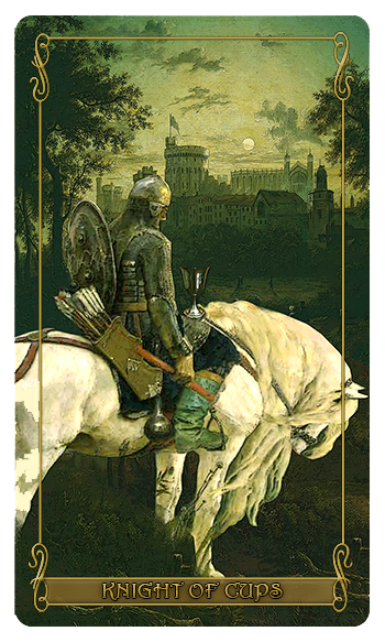 Madam Lydia  Wilhelmina's Tarot of Monsters, the Macabre and Autumn Scenes = Knight of Cups
