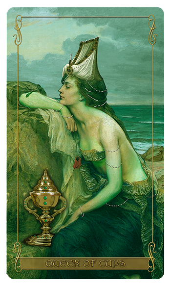 Madam Lydia  Wilhelmina's Tarot of Monsters, the Macabre and Autumn Scenes = Queen of Cups