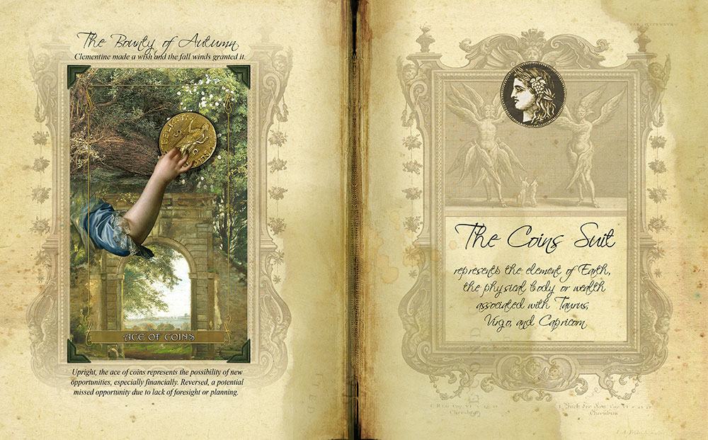 Madam Lydia Wilhelmina's Tarot of Monsters, the Macabre and Autumn Scenes -Grimoire
