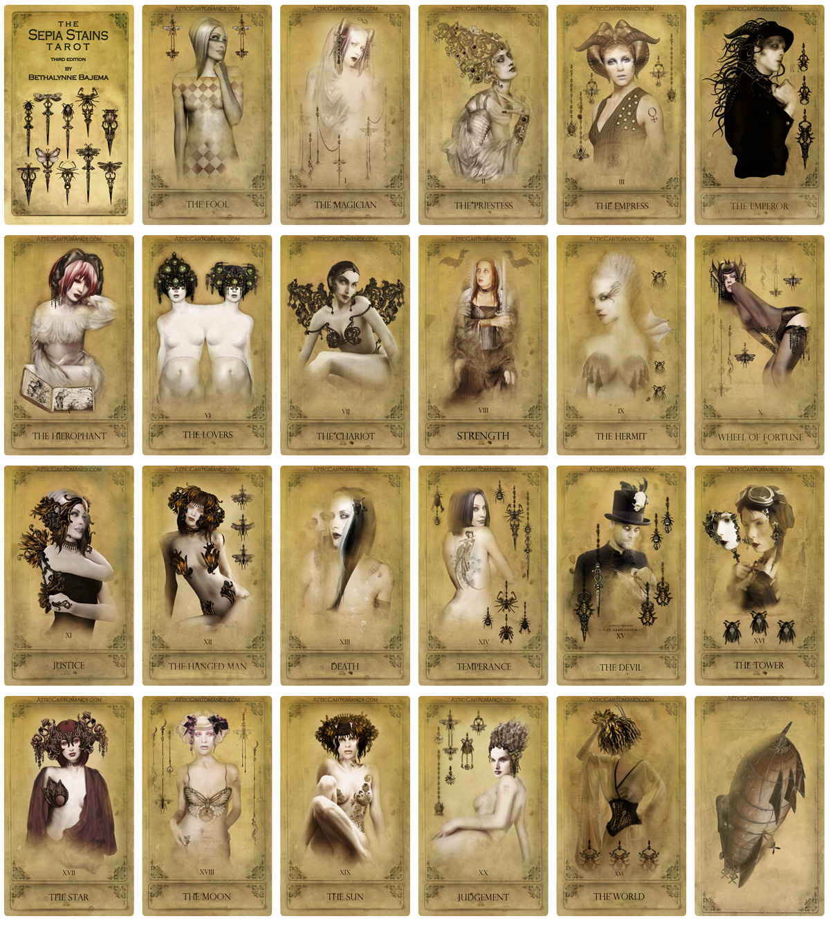 Attic Cartomancy - Sepia Stains Tarot