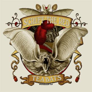 Attic Cartomancy - Scruff the Red Tea Bats Tee