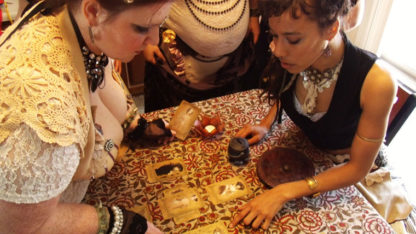 The Sepia Stains Tarot - Shown here with Boheme Tribal Dance