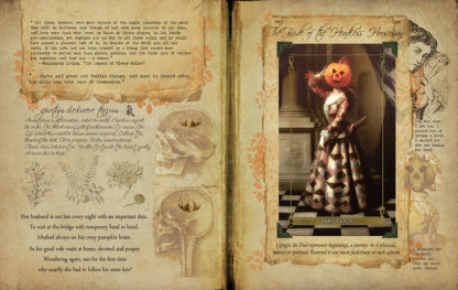 Madam Lydia Wilhelminas Tarot of Monsters the Macabre and Autumn Scenes Companion Grimoire
