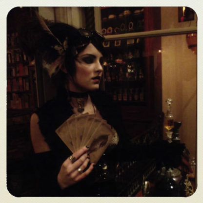 The Sepia Stains Tarot - Shown here modeled by Charli Bovina