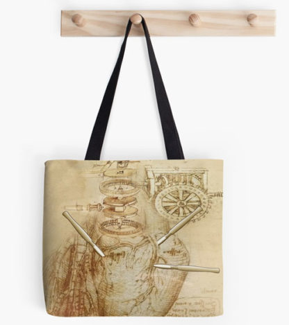 Madam Lydia Wilhelminas Tarot of Monsters, the Macabre, and Autumn Scenes - At RedBubble - Three of Swords - Bag