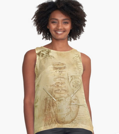 Madam Lydia Wilhelminas Tarot of Monsters, the Macabre, and Autumn Scenes - At RedBubble - Womans Tank with Lydia Logo