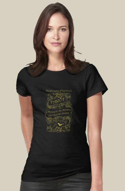 Madam Lydia Wilhelminas Tarot of Monsters, the Macabre, and Autumn Scenes - At RedBubble - Womans Tee with Lydia Logo - A variety of other designs available