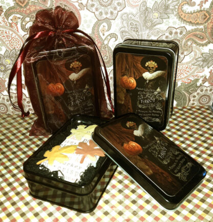 Madam Lydia Wilhelminas Tarot of Monsters, the Macabre and Autumn Scenes Mini halloween packaging by Bethalynne Bajema